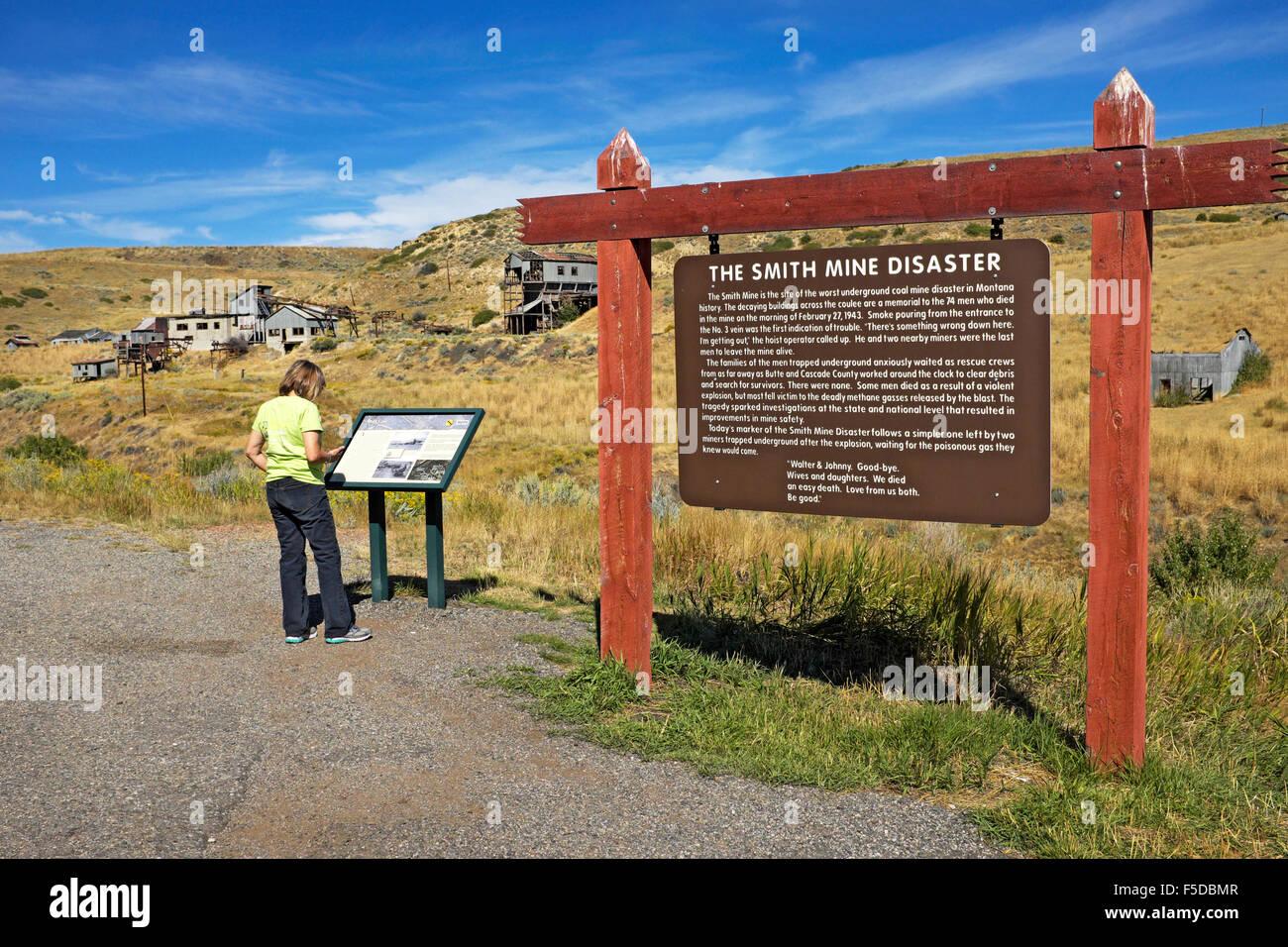 The abandoned Smith Mine, near Red Lodge, Montana, site of Montana's