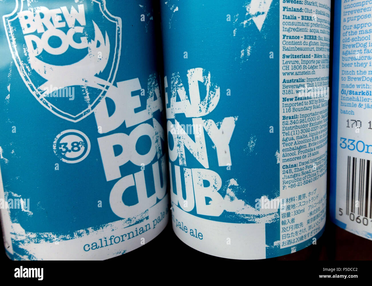 Dead Pony Club Californian pale ale by Brew Dog, London - Stock Image