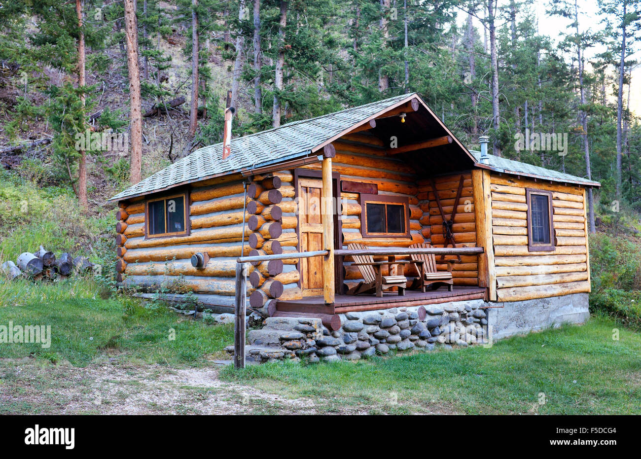 A Small Log Cabin In A Remote Part Of The Absaroka