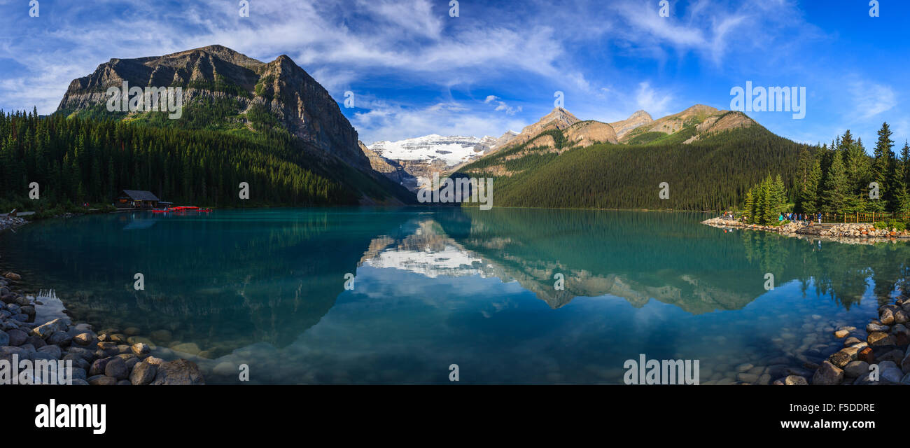 Lake Louise in Banff National Park, Alberta, Canada. Stock Photo