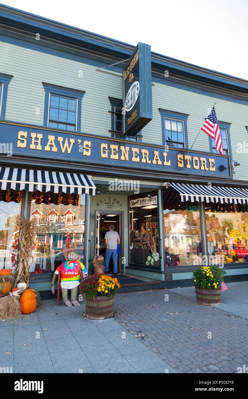 Shaw's General Store, Main Street, Stowe Vermont VT USA - Stock Image