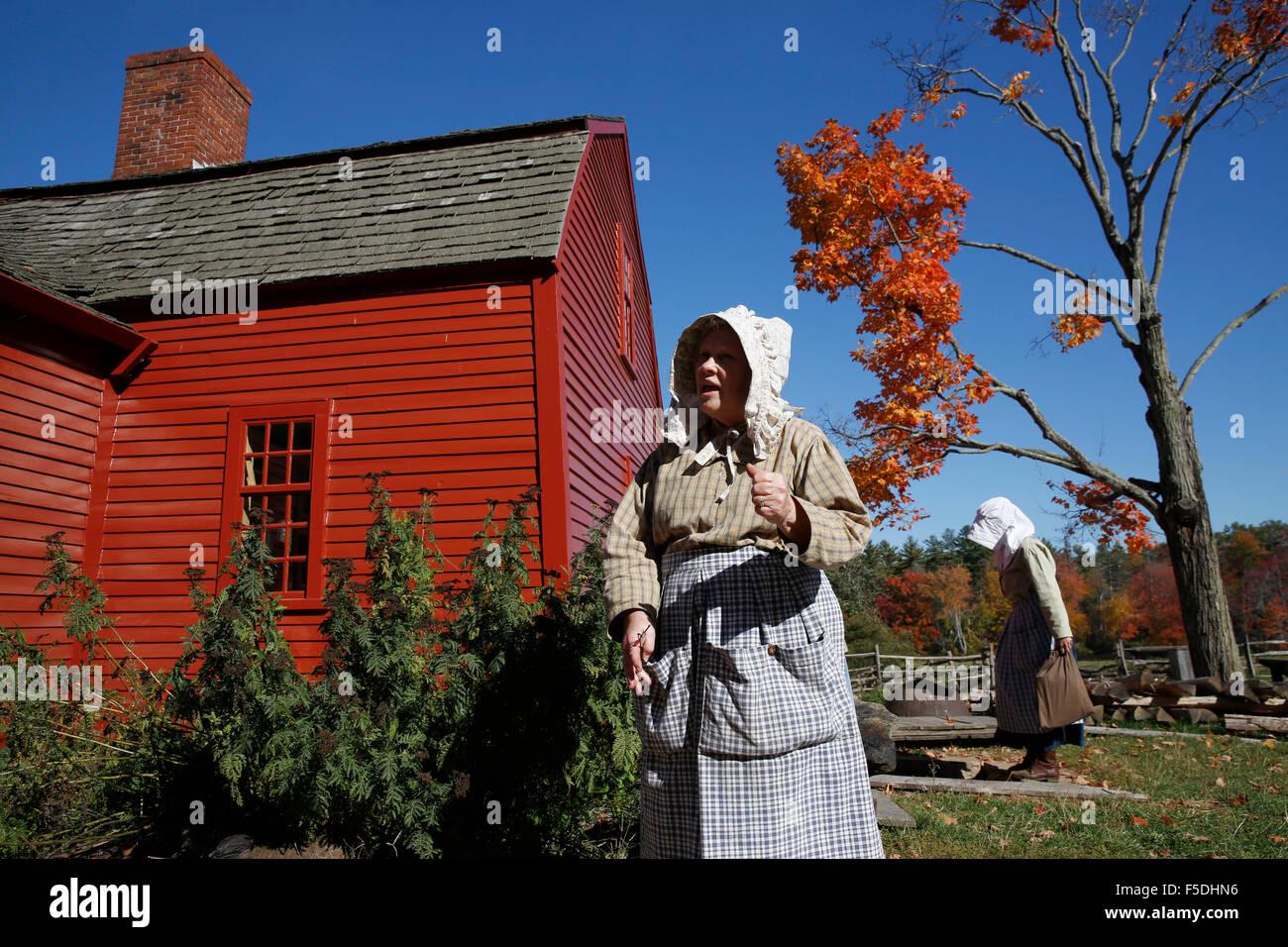 Costumed Interpreters, Old Sturbridge Village, Sturbridge, Massachusetts - Stock Image