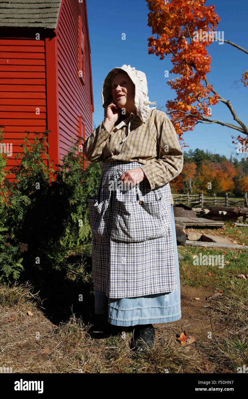 Costumed Interpreter, Old Sturbridge Village, Sturbridge, Massachusetts - Stock Image