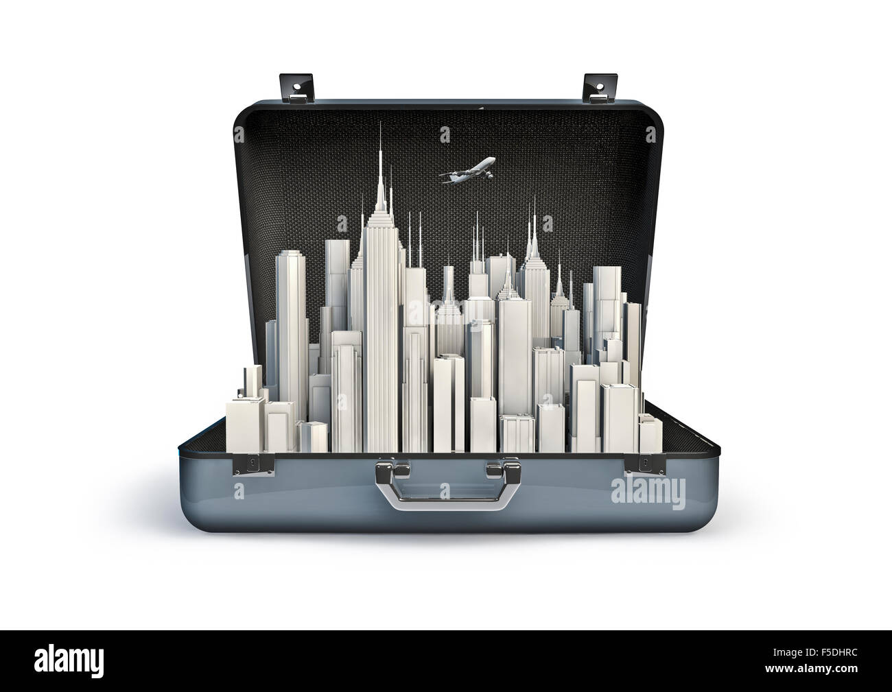 Package holiday city / 3D render of urban tourism concept Stock Photo