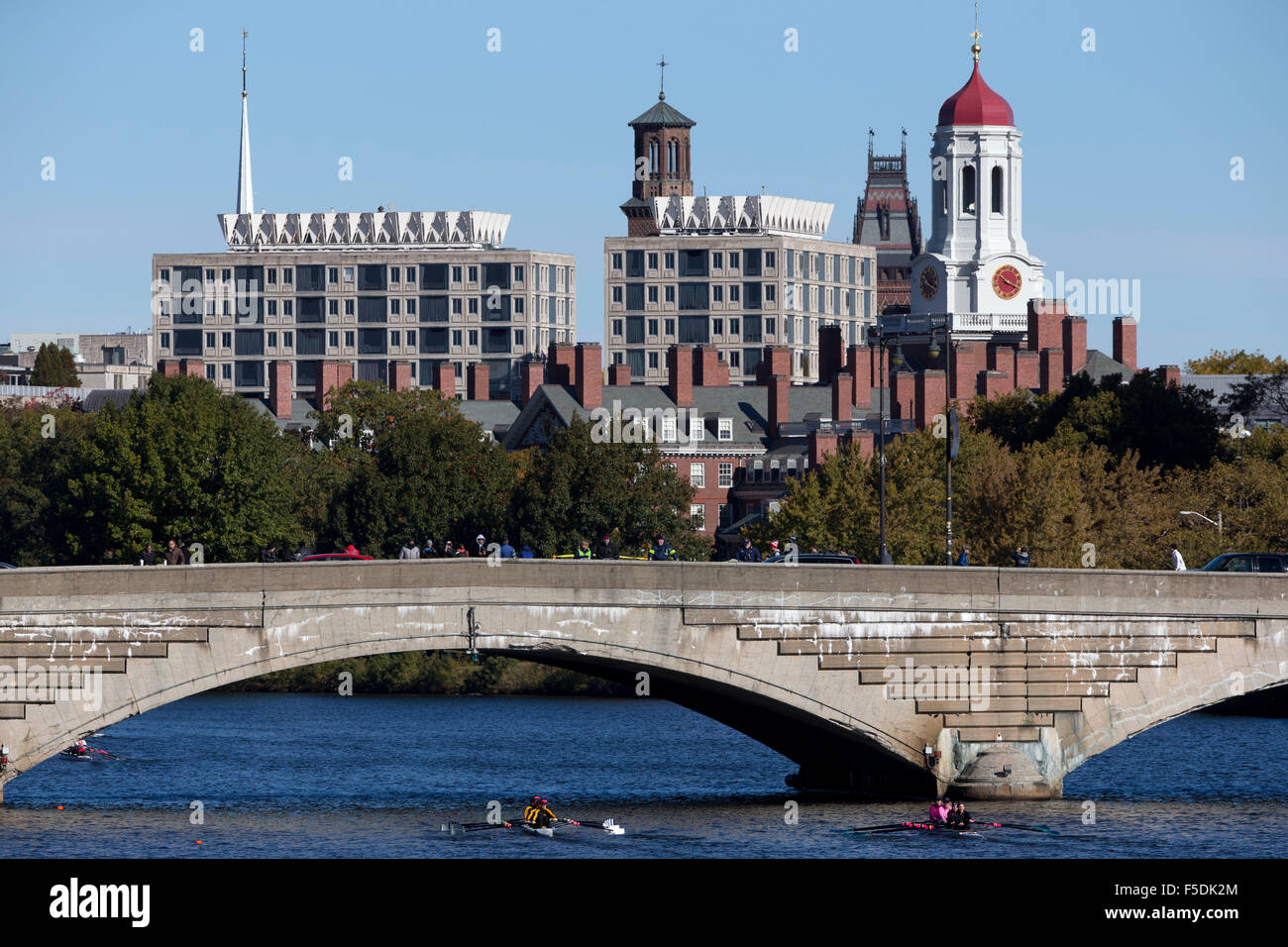 Charles River, Harvard University, Cambridge, Massachusetts - Stock Image