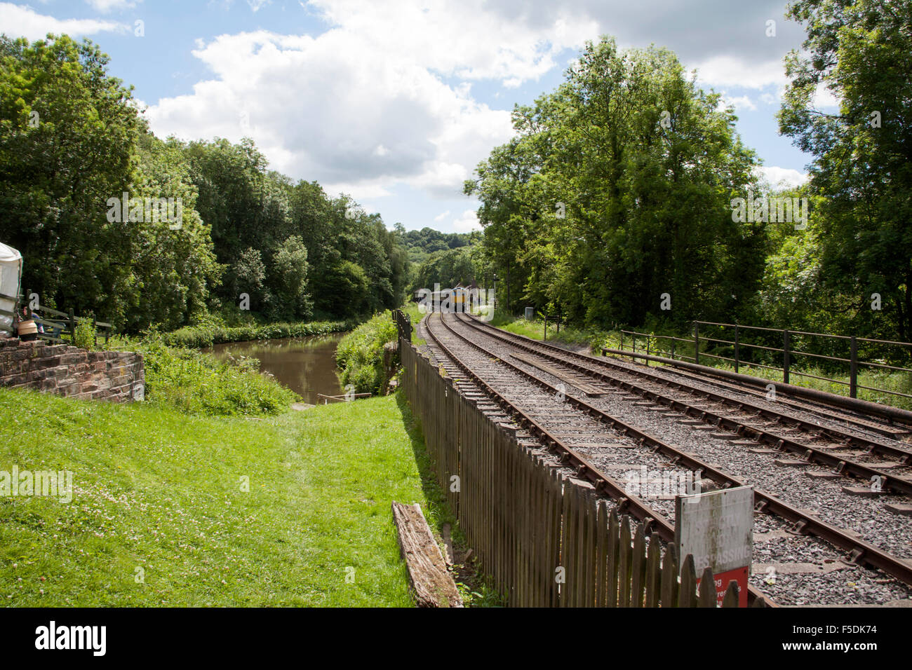 British Railways Class 33 Locomotive  Sophie at Consall Station on The Churnet Valley Railway Staffordshire England - Stock Image