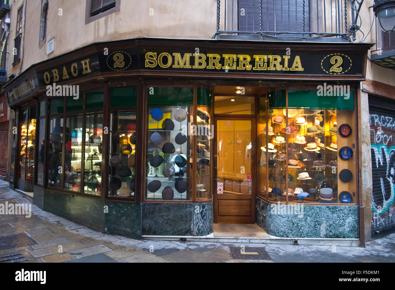 Sombrereria traditional hat shop in Barcelona Catalonia Spain ES - Stock  Image dbb7d9ab5db9