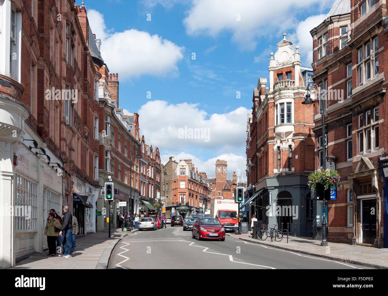 Heath Street, Hampstead, London Borough of Camden, Greater London, England, United Kingdom - Stock Image