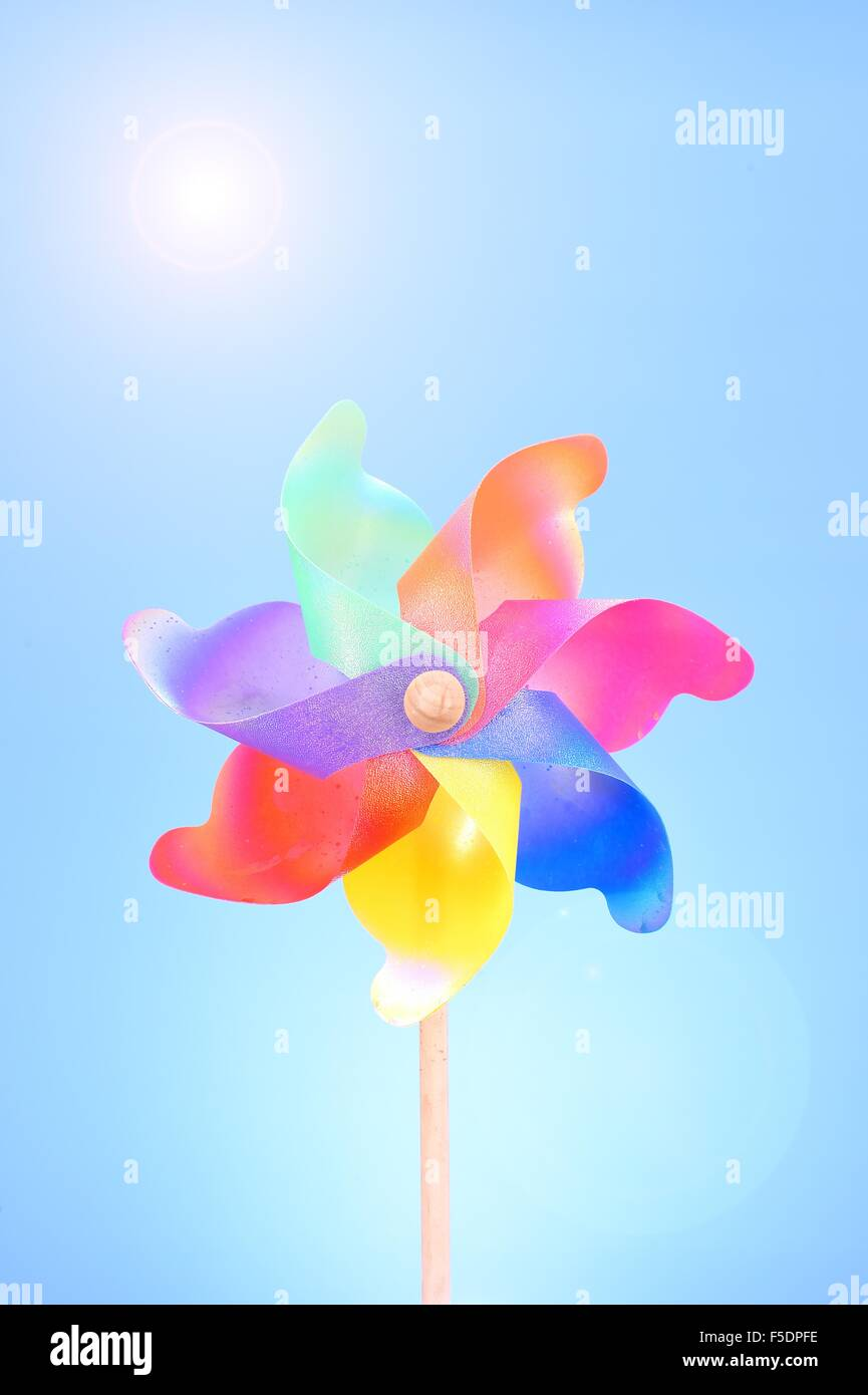 A studio photo of whirligig Stock Photo
