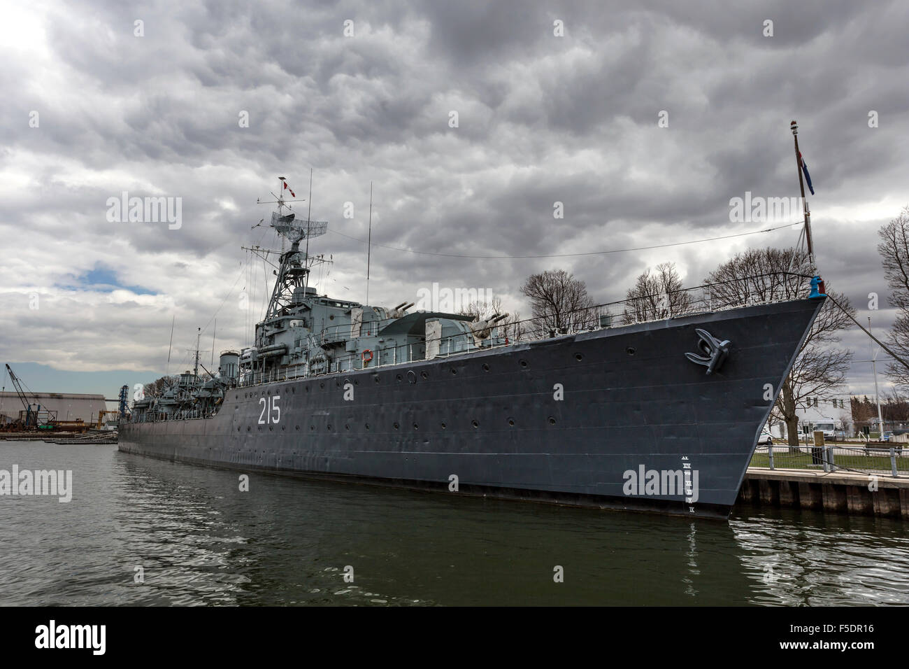 Legendary HMCS Haida, a Tribal class destroyer that served in the Second World War. - Stock Image