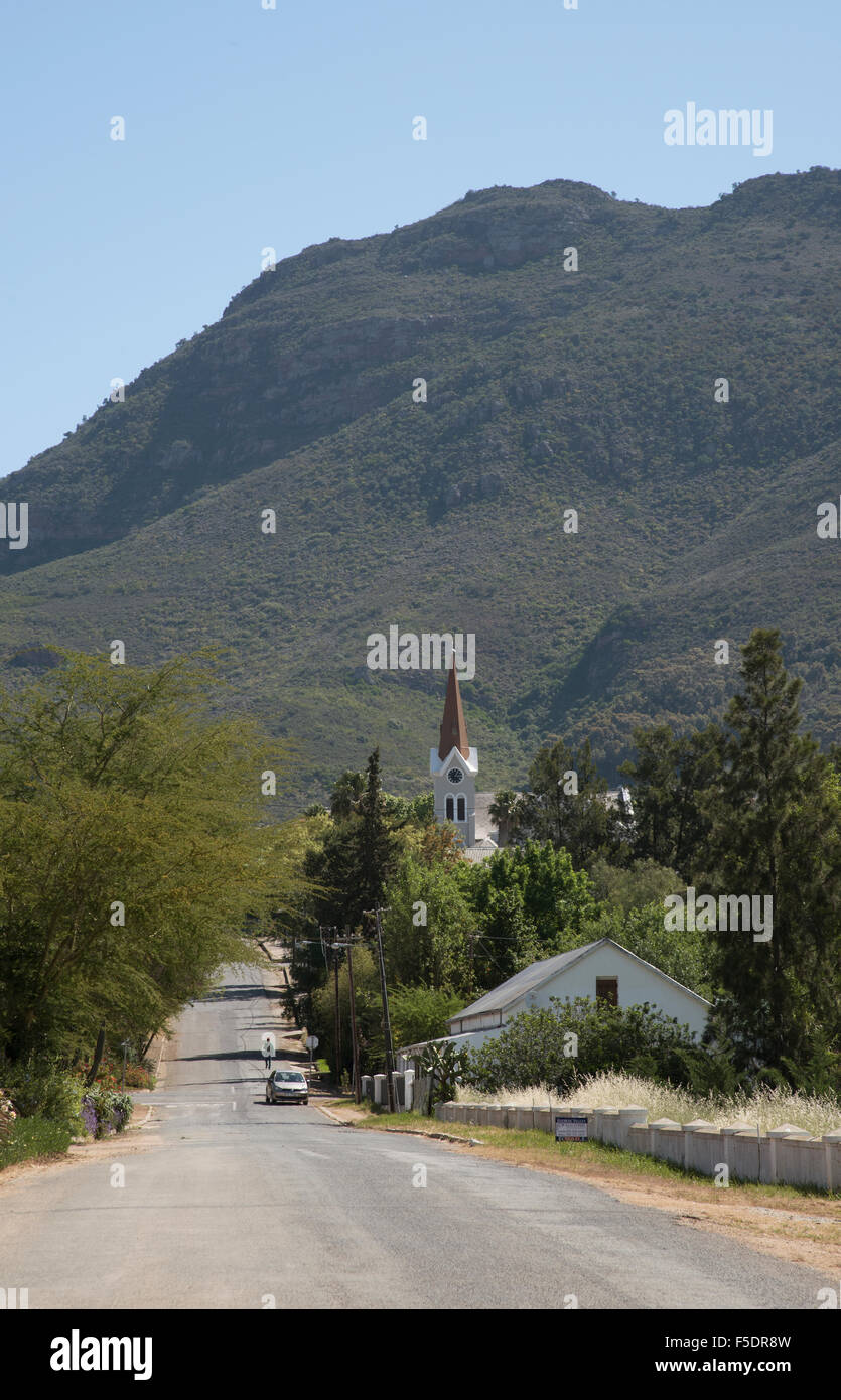 Riebeek Kasteel one of the oldest towns in South Africa Situated in the Swartland region north of Cape Town - Stock Image