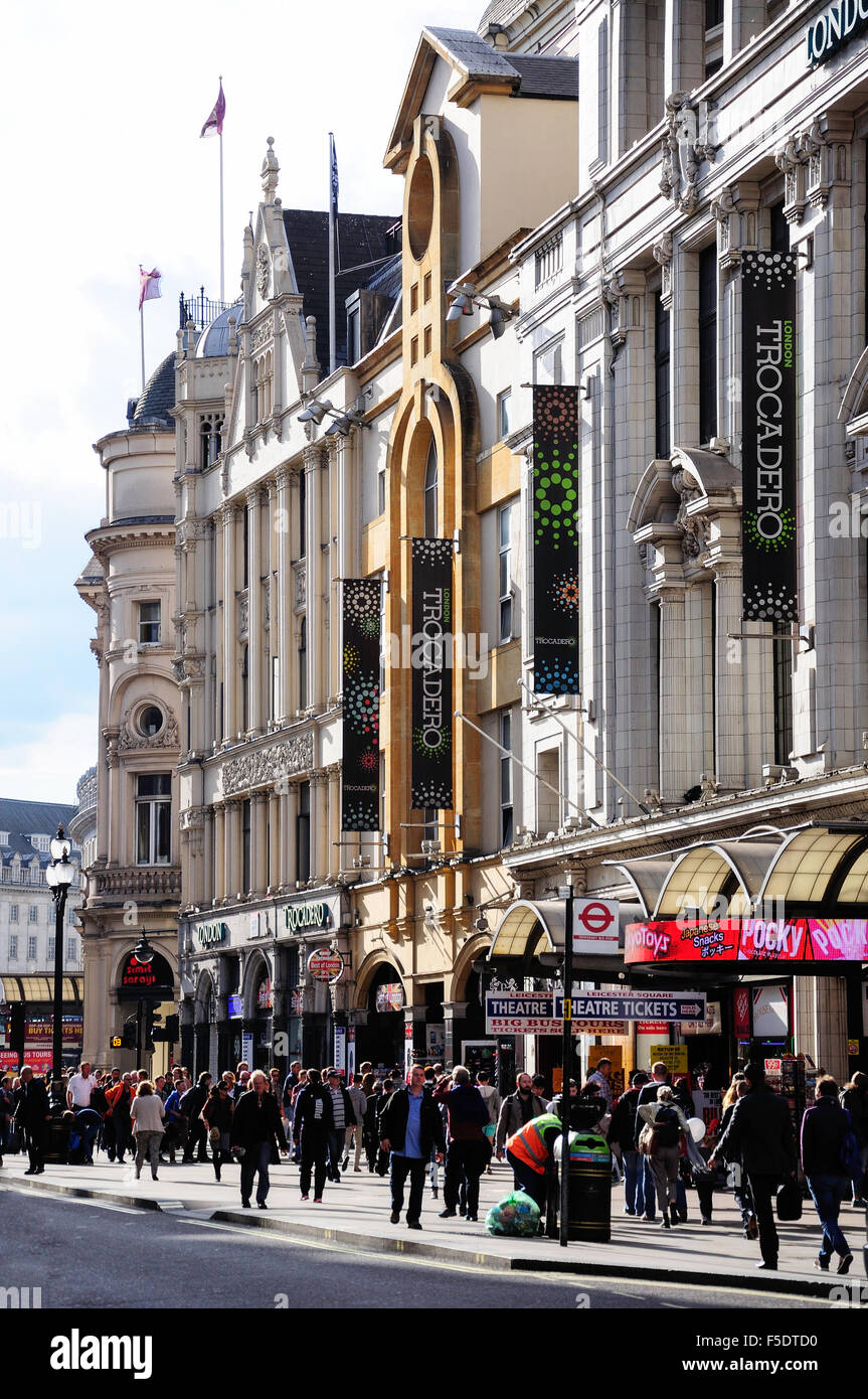 London Trocadero Centre, Coventry Street, West End, City of Westminster, London, England, United Kingdom - Stock Image