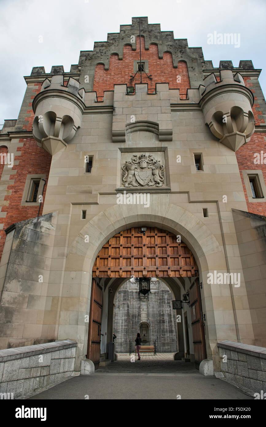 Entry Gate To Schloss Neuschwanstein Castle In Schwangau