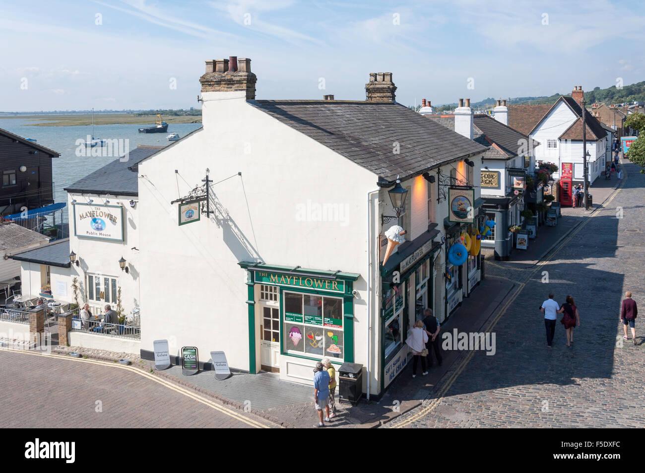 The Mayflower Pub, High Street, Old Leigh, Leigh-on-Sea, Essex, England, United Kingdom - Stock Image