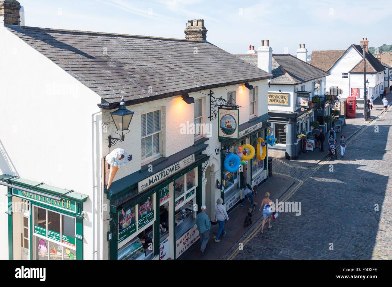 The Mayflower Pub, High Street, Old Leigh, Leigh-on-Sea, Essex, England, United Kingdom Stock Photo