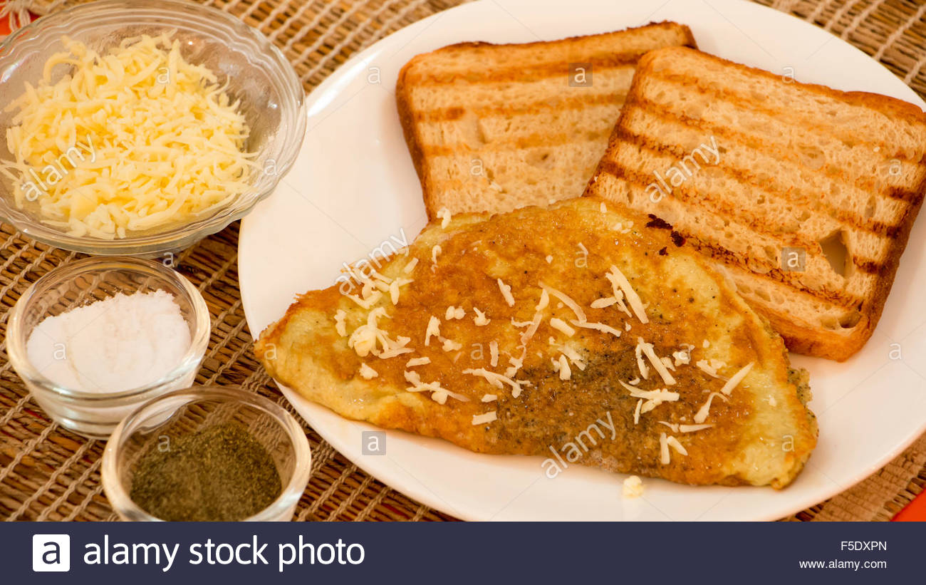 Cheese Omelette - Stock Image