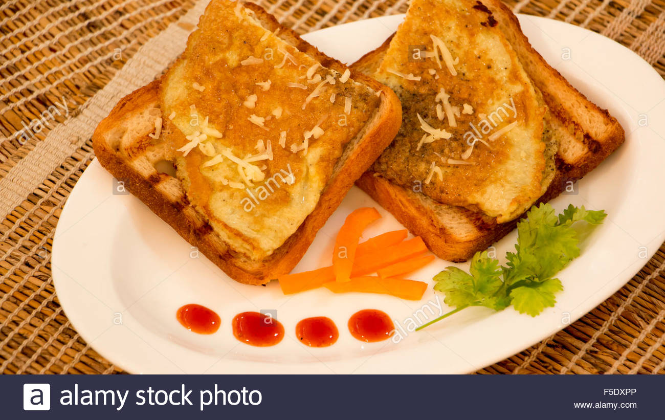 Cheese Omelette Stock Photo