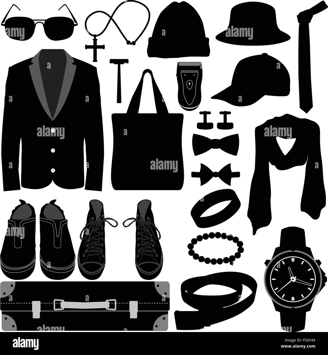 Man Male Clothing Wear Accessories Fashion Design Stock Vector Image Art Alamy