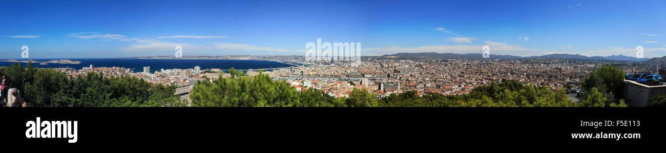 Panorama über die Stadt Marseille, Provence-Alpes-Côte d'Azur, Frankreich - Stock Image