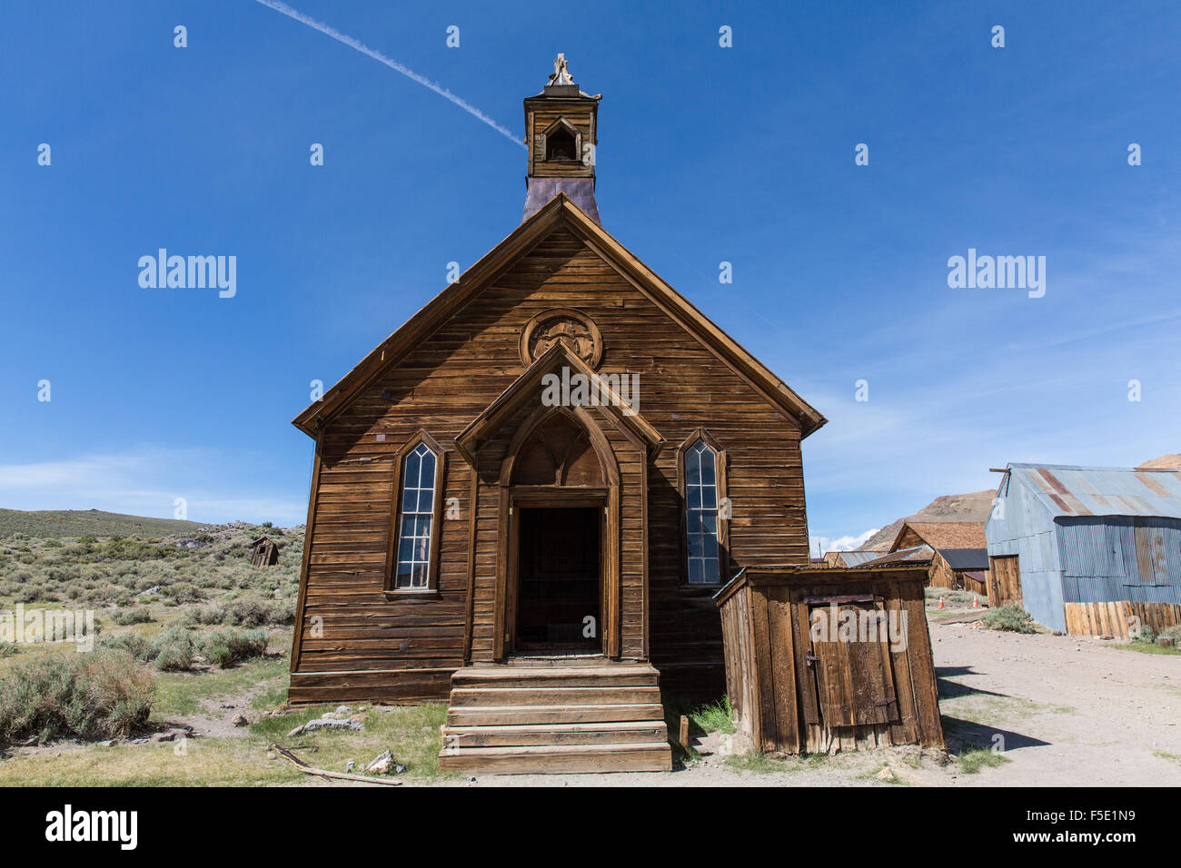 Church in Bodie, ghosttown in California - Stock Image
