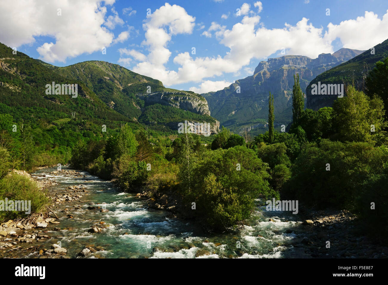 Valle de Broto, Parque Nacional de Ordesa, Central Pyrenees, Aragon, Spain, Europe - Stock Image