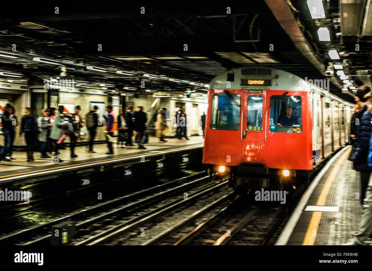 London Tube train, London, England, United Kingdom, Europe - Stock Image