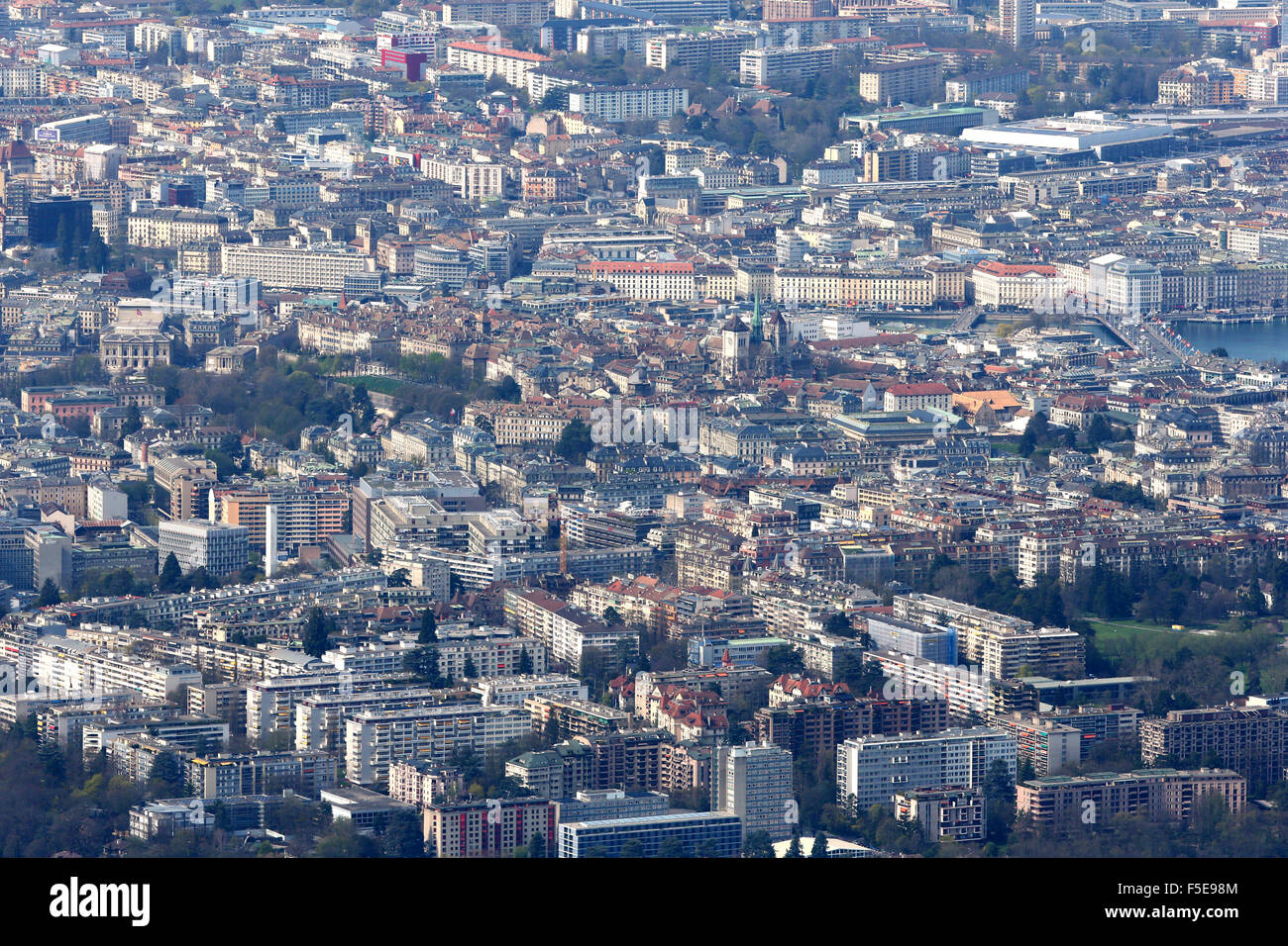 Downtown, Geneva, Switzerland, Europe - Stock Image