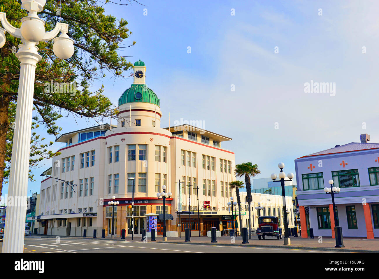 Governor's Old Residence in central Napier , in the Art Deco area of Napier township, North Island , New Zealand. - Stock Image