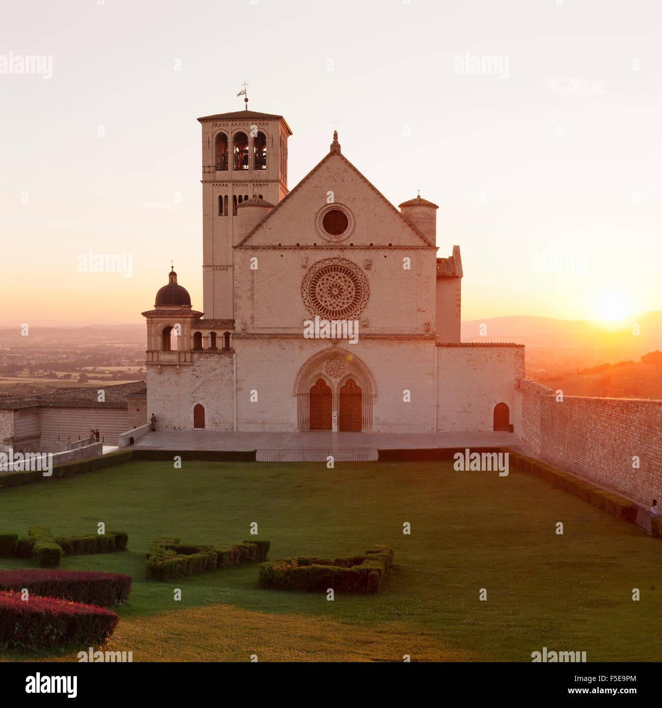 Basilica of San Francesco, UNESCO World Heritage Site, Assisi, Perugia District, Umbria, Italy, Europe Stock Photo