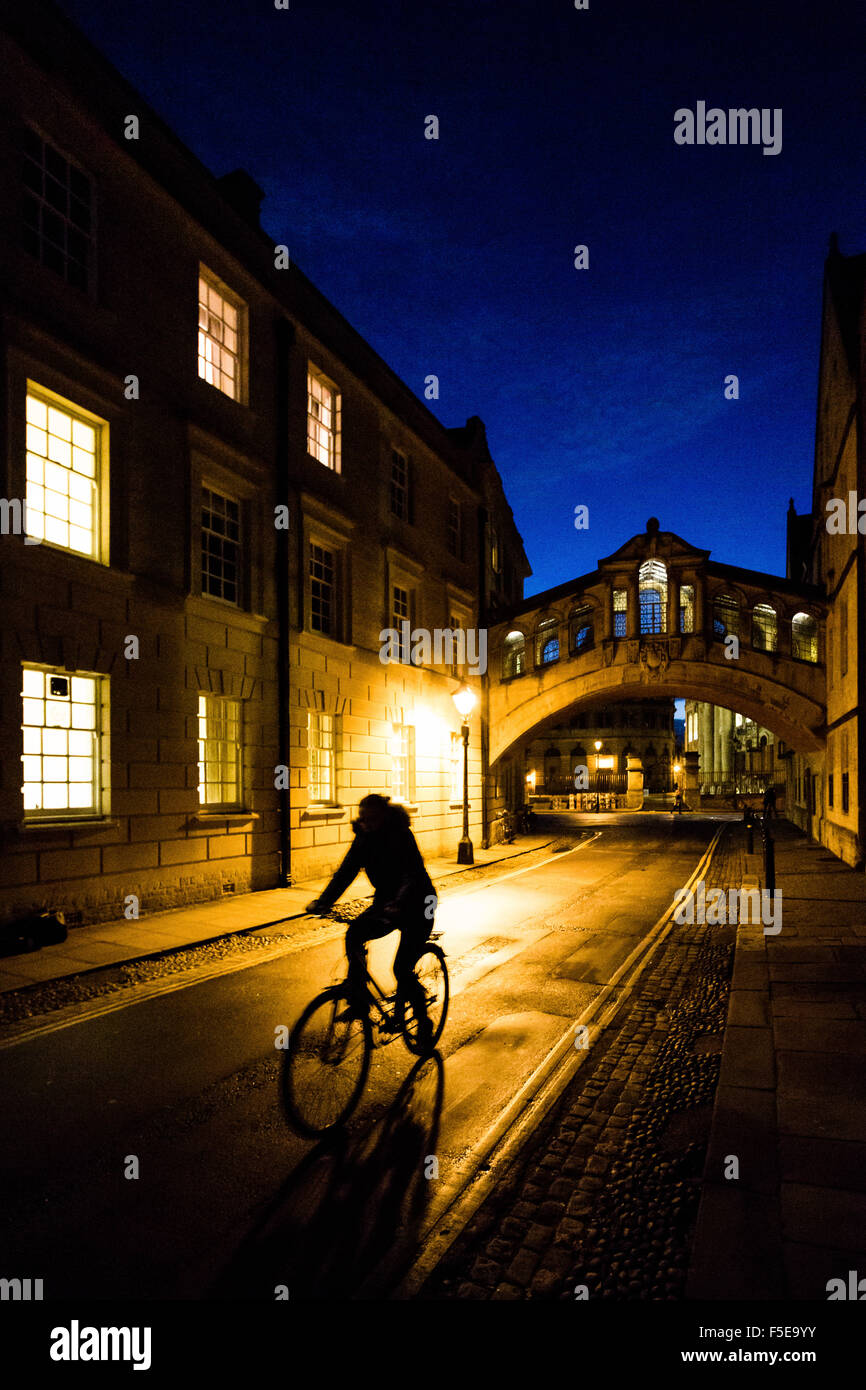 Bridge of Sighs, Oxford, Oxfordshire, England, United Kingdom, Europe - Stock Image