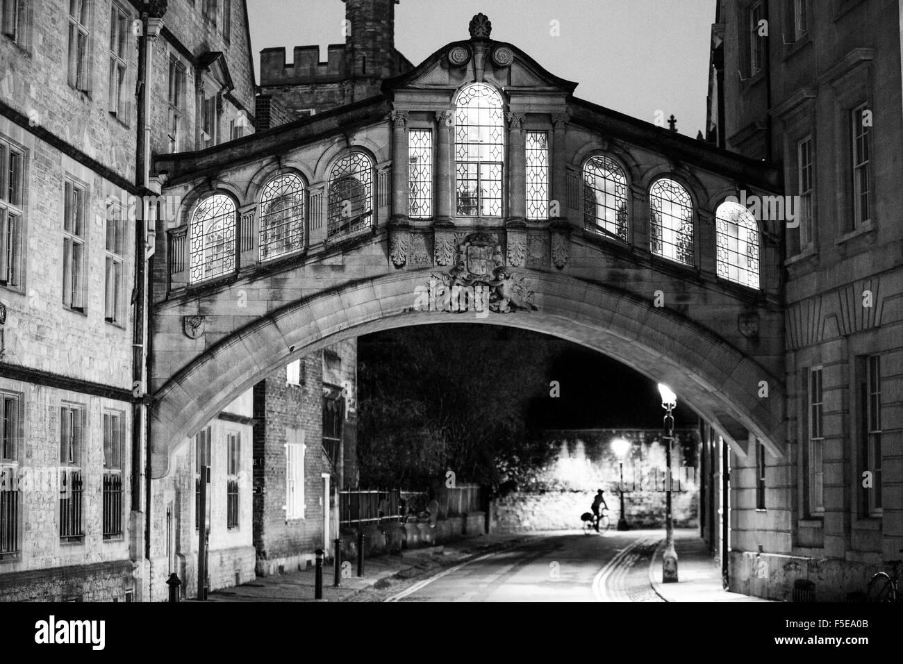Bridge of Sighs, Oxford, Oxfordshire, England, United Kingdom, Europe - Stock Image