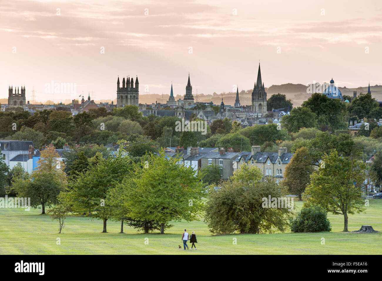 Oxford from South Park, Oxford, Oxfordshire, England, United Kingdom, Europe - Stock Image