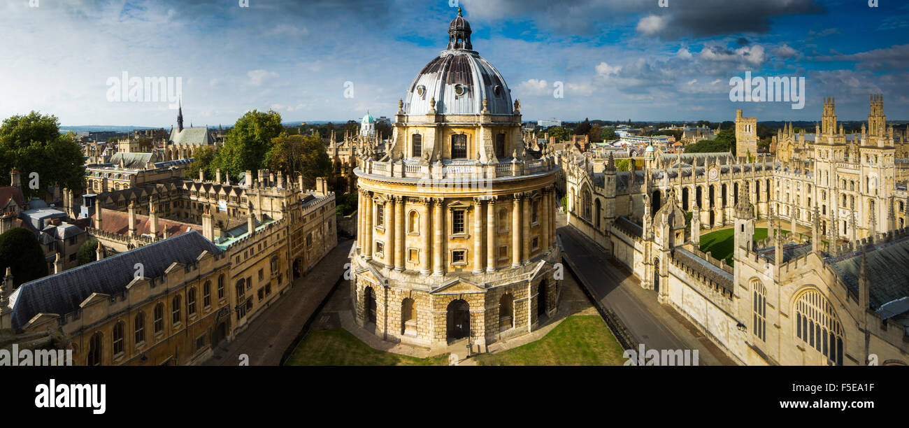 Radcliffe Camera, from St. Marys Church, Oxford, Oxfordshire, England, United Kingdom, Europe - Stock Image