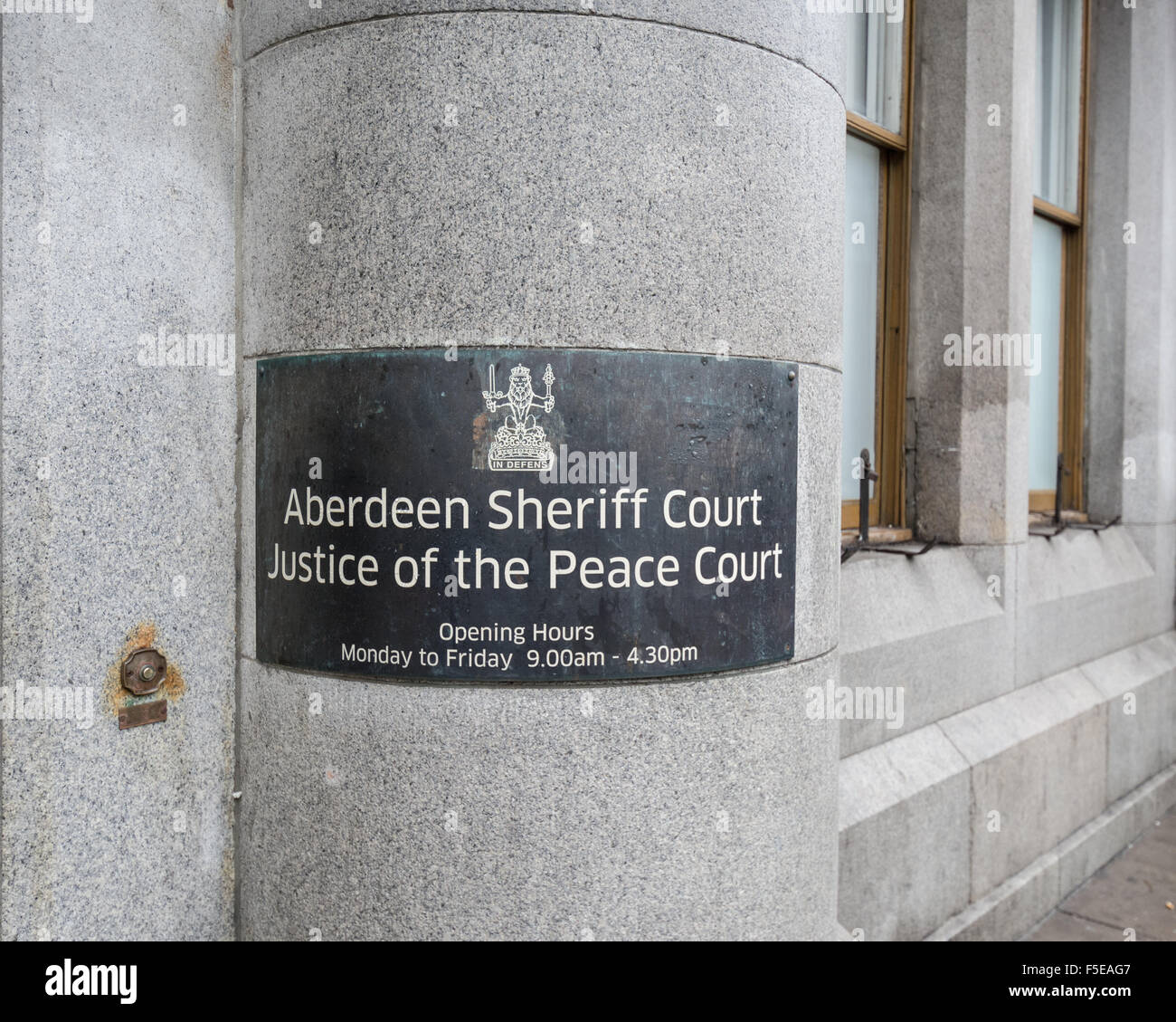 Aberdeen Sheriff Court and Justice of the Peace Court - Stock Image