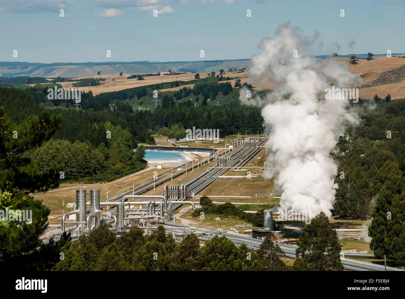 Wairakei Geothermal Power Station, Taupo, North Island, New Zealand, Pacific - Stock Image