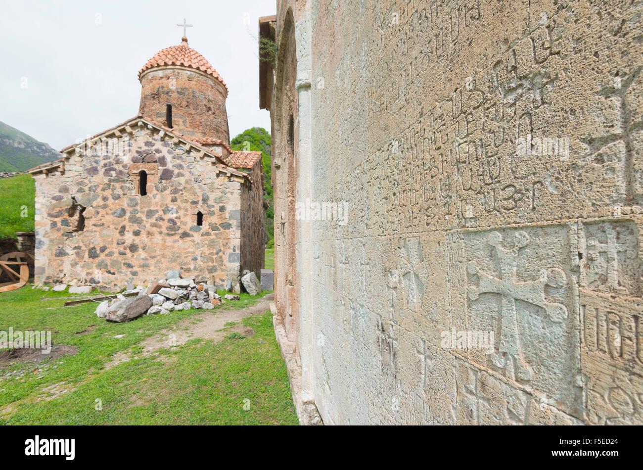 Dadivank Monastery, independent Armenian enclave officially within Azerbaijan, Nagorno-Karabakh, Armenia, Caucasus, - Stock Image