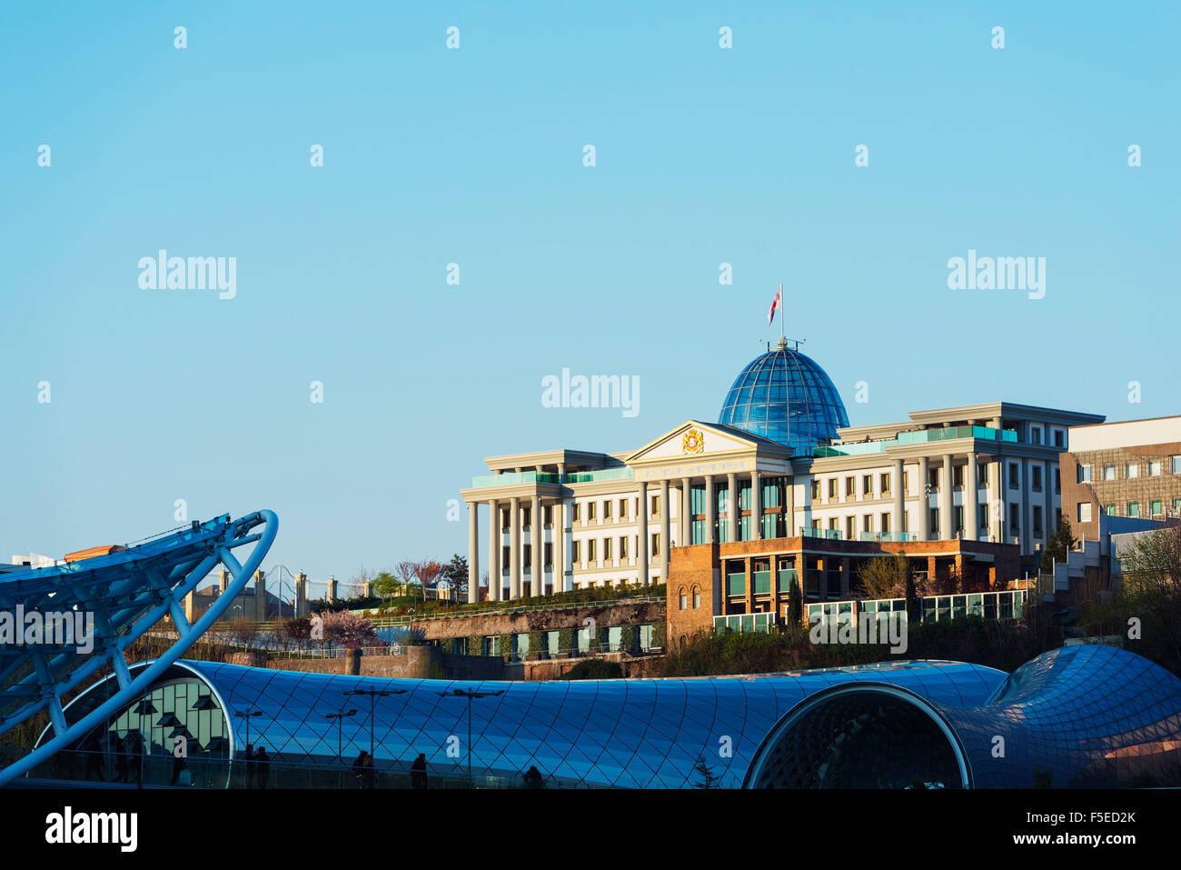 Presidential Palace, Tbilisi, Georgia, Caucasus, Central Asia, Asia - Stock Image