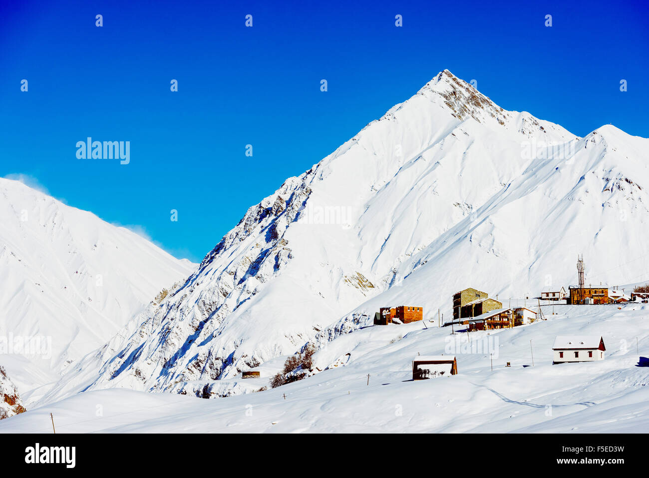 Gudauri ski resort, Georgia, Caucasus region, Central Asia, Asia Stock Photo