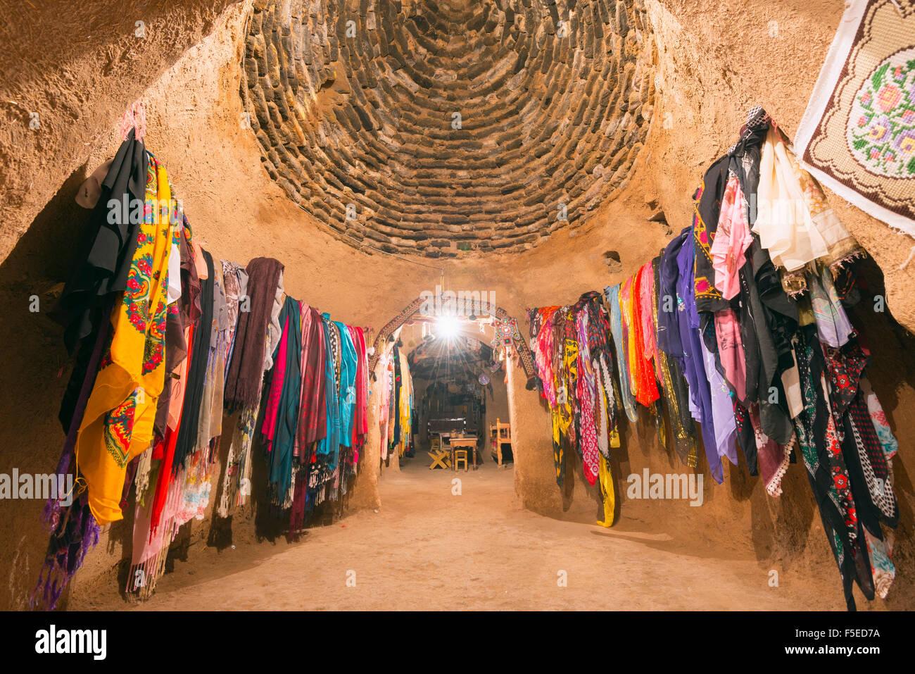 Inside a bee-hive mud brick house, village of Harran, Anatolia, Turkey, Asia Minor, Eurasia - Stock Image