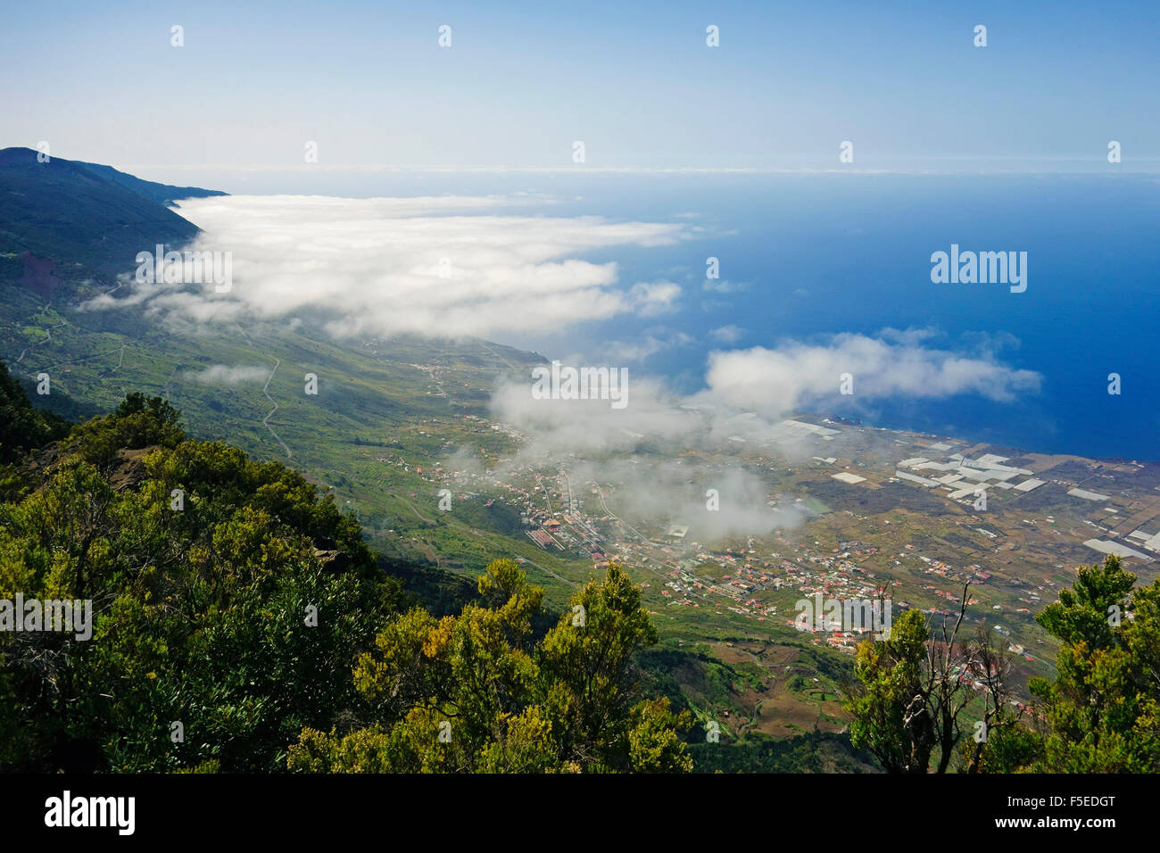 Las Puntas and El Golfo Bay, seen from Tibataje, El Hierro, Canary Islands, Spain, Atlantic, Europe Stock Photo