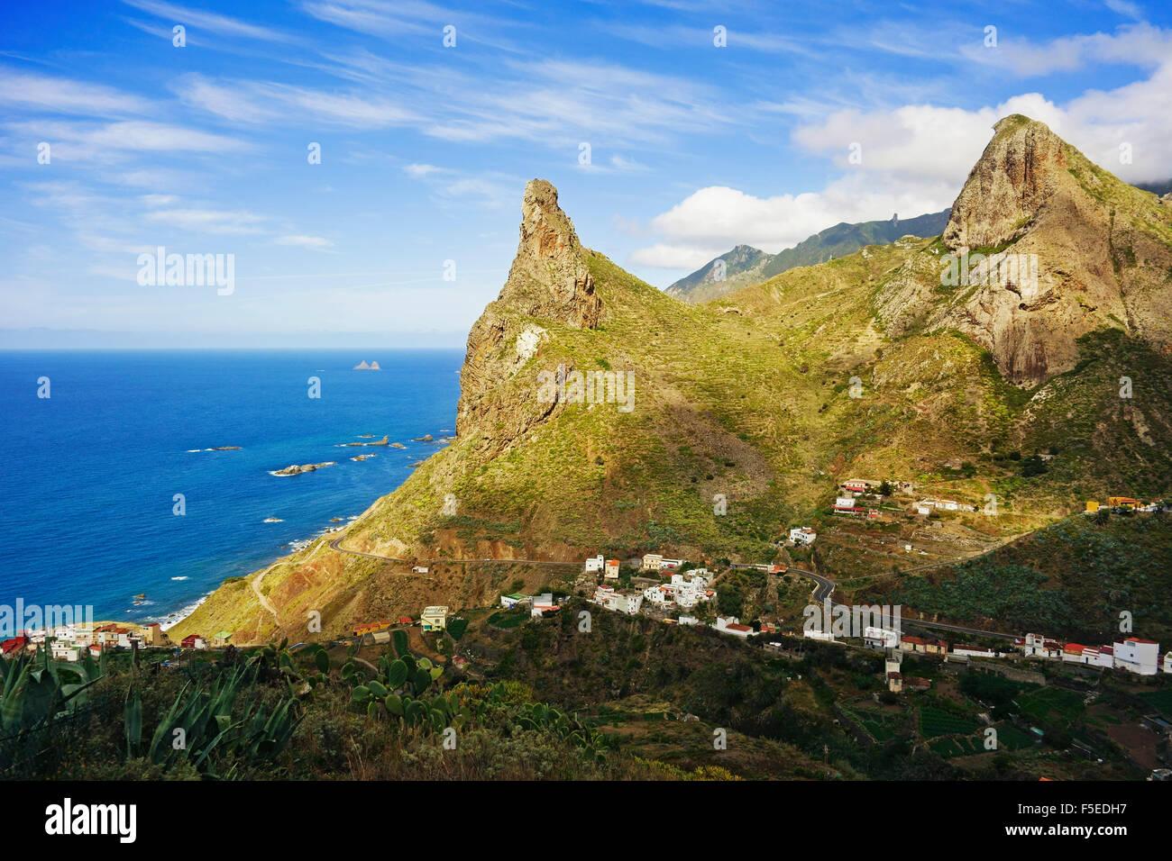Taganana village, Anaga Mountains, Tenerife, Canary Islands, Spain, Atlantic, Europe - Stock Image