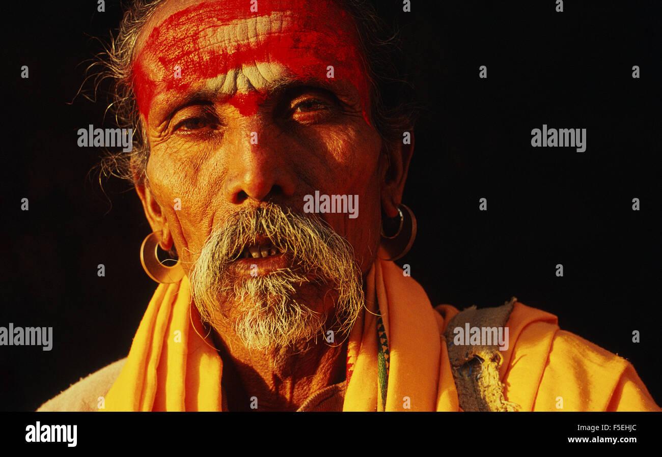 Hindu ascetic ('sadhu') - Stock Image