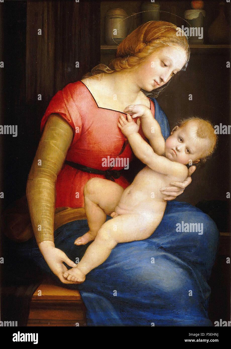 Raffaello Sanzio - Raffaello - Madonna d'Orleans Stock Photo