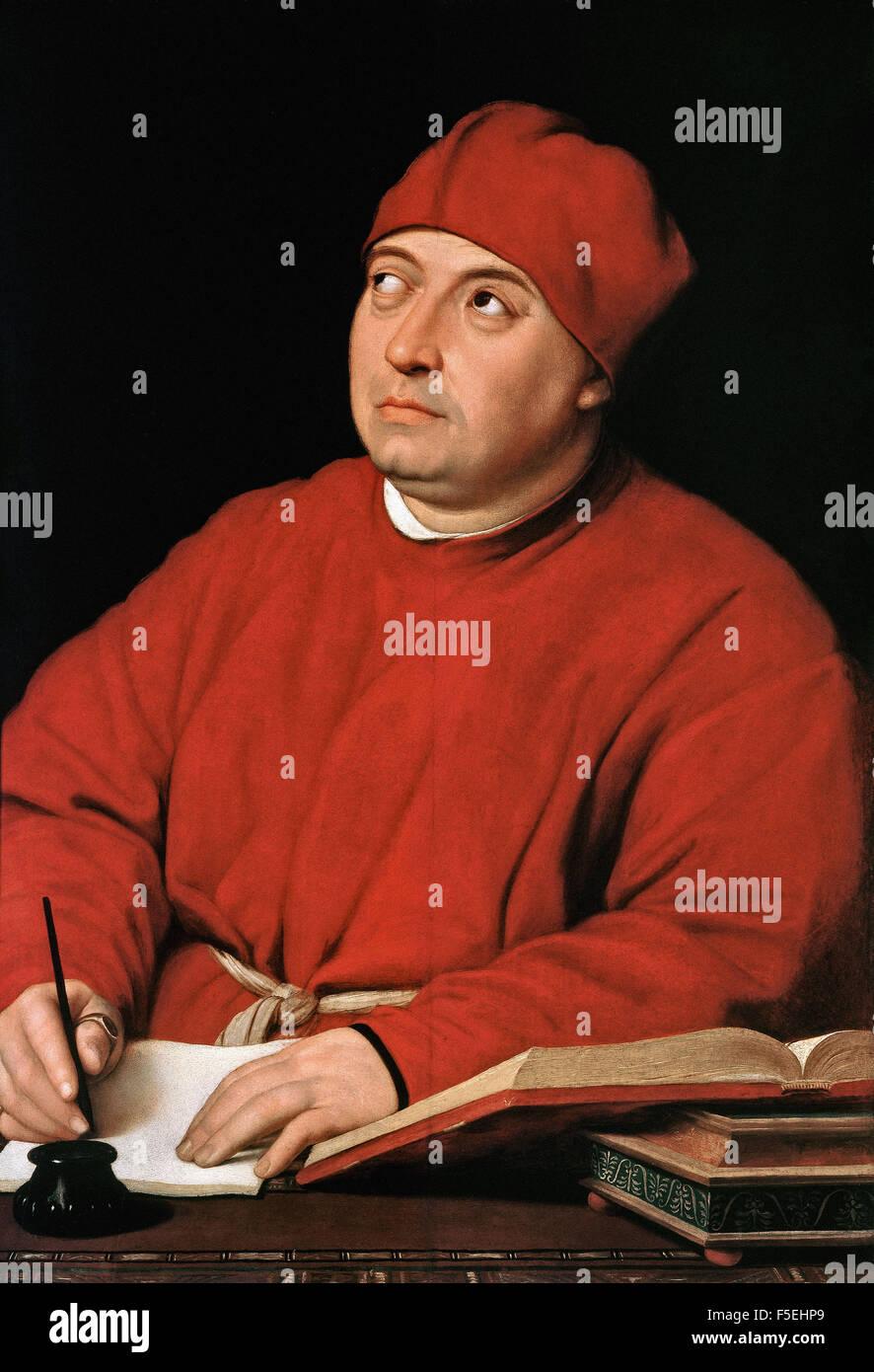 Raffaello Sanzio - Raffaello - Portrait of Count Tommaso Inghirami Stock Photo