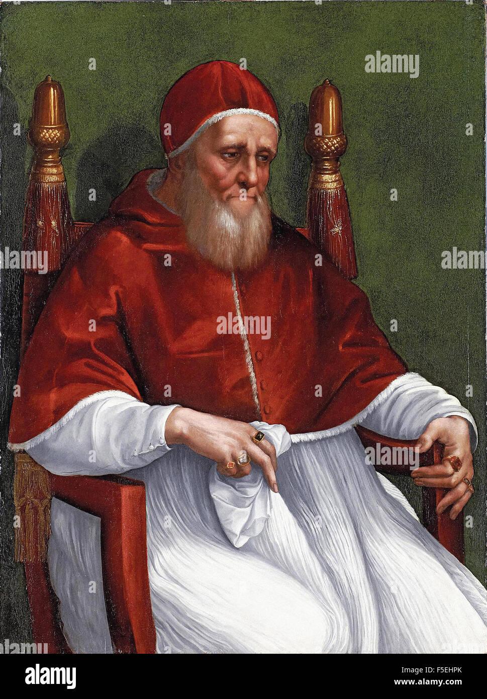 Raffaello Sanzio - Raffaello - Portrait of Pope Julius II 1727 Stock Photo