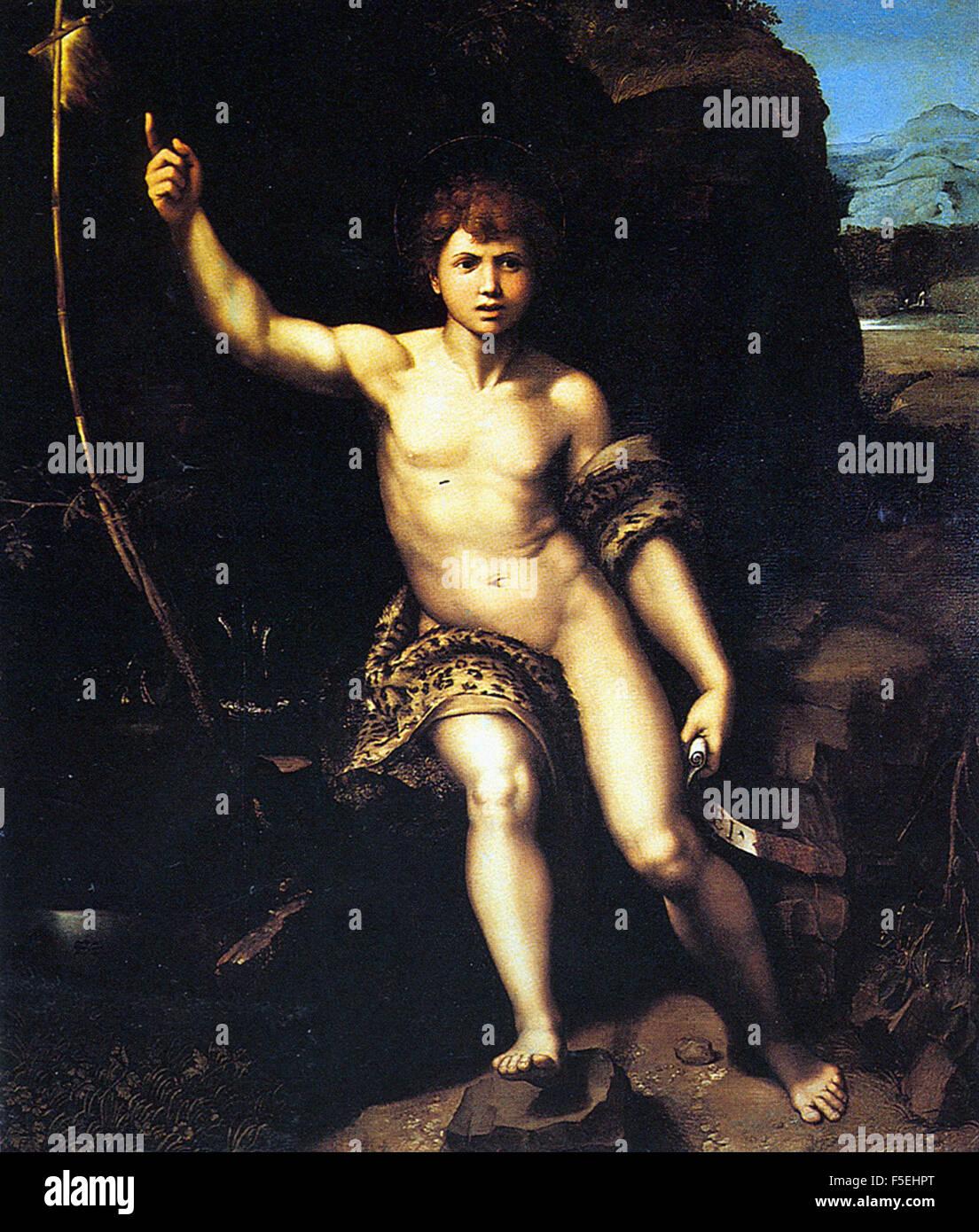Raffaello Sanzio - Raffaello - Saint John the Baptist in the Desert 1140 Stock Photo