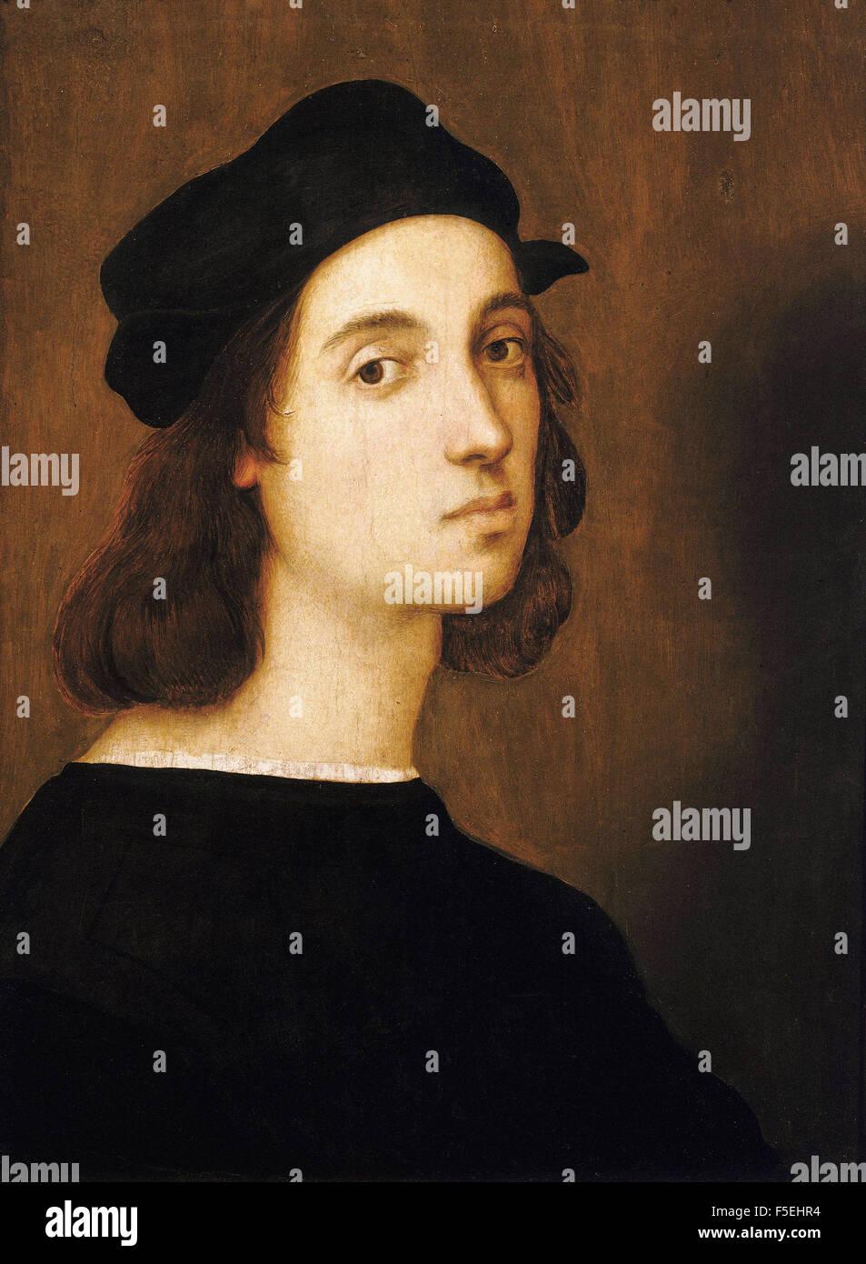 Raffaello Sanzio - Raffaello - Self Portrait Stock Photo