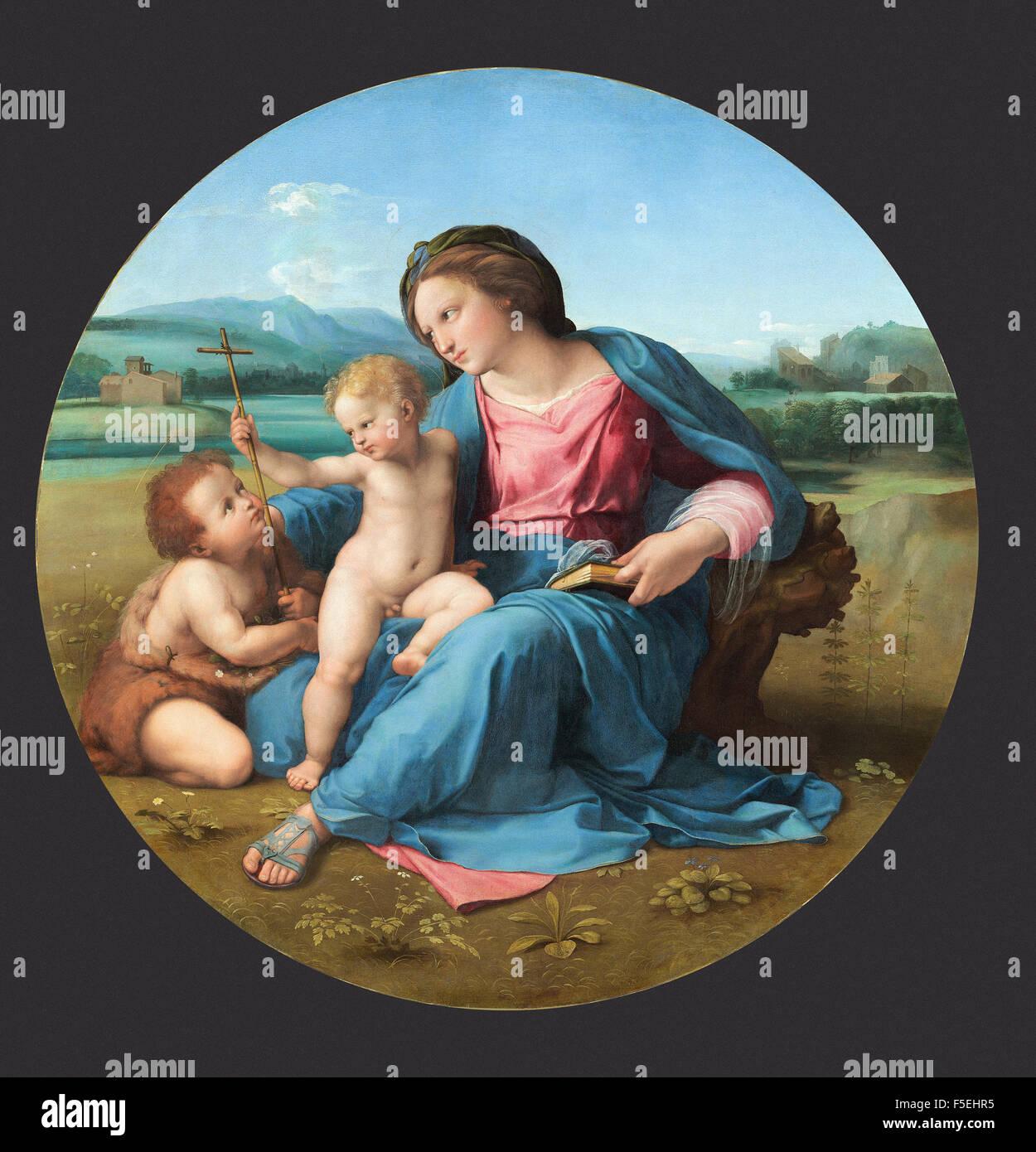 Raffaello Sanzio - Raffaello - The Alba Madonna 1131 Stock Photo