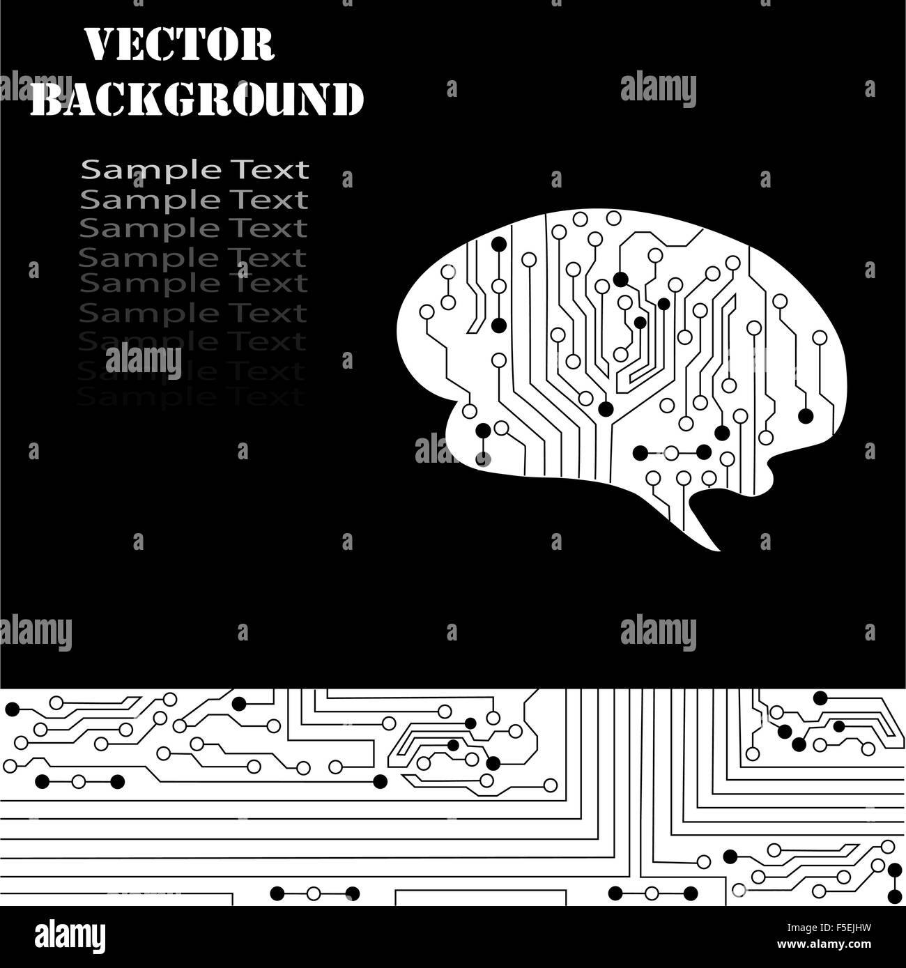 Technological brains vector background. Vector eps10. - Stock Image