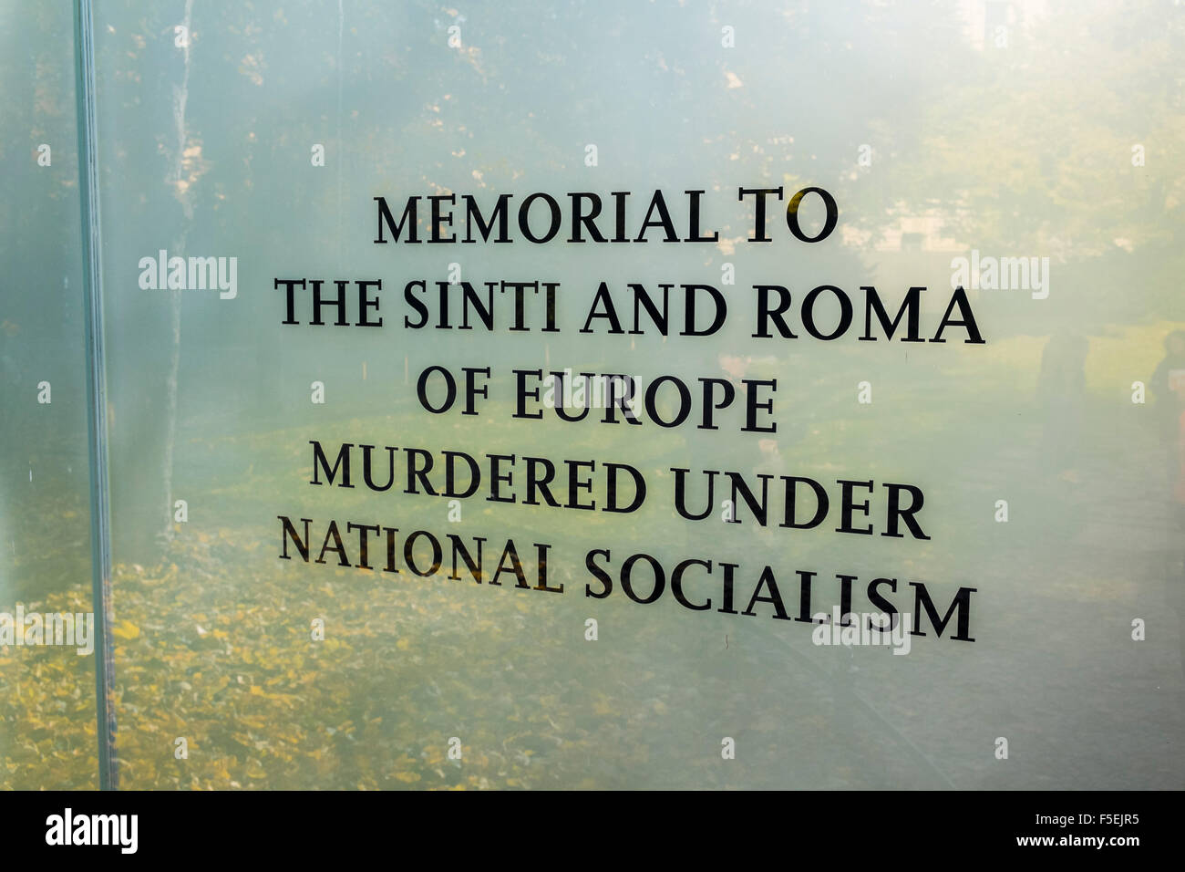 Memorial to Murdered Sinti and Roma People, Mitte, Berlin, Germany Stock Photo